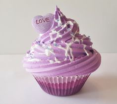 Fake Cupcake, Picture Sessions, Photo Props, Valentines Day Cupcakes, Kitchen decor, Party Decorations, Purple, Ready to Ship Fake Cupcakes by FakeCupcakeShop on Etsy