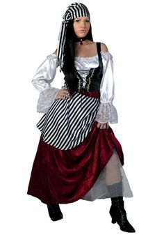 This Plus Size Deluxe Pirate Wench costume is an exclusive women's plus size pirate costume for Halloween that's available in sizes up to 3X!