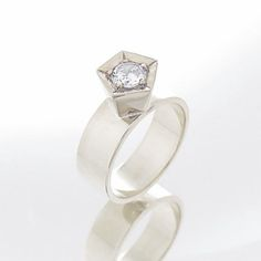 Engagement diamond ring White gold solitaire by GuyCohenJewelry (scheduled via http://www.tailwindapp.com?utm_source=pinterest&utm_medium=twpin&utm_content=post150709099&utm_campaign=scheduler_attribution)