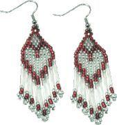 Heart Earrings Pattern Más