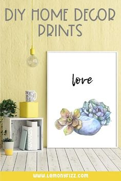 DIY wall art that you can easily create in Canva. Learn how to make DIY home decor that is quick, easy, and affordable. Fun Printables For Kids, Nailart, Design Your Own Home, How To Make Diy, Diy Home Decor Projects, Diy Wall Art, Decorating Your Home, Home Accessories, Designer