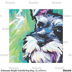 Schnauzer Bright Colorful Pop Dog Art Follow the link to see this product on Zazzle! @zazzle #dog #dogs #dogstuff #dogpin #pet #pets #animals #animal #fun #buy #shop #shopping #sale #gift #dogowner #dogmom #dogdad #home #decor #homedecor #interiordesign #design #apartment #interior #artprint #art #funny #lol #cute