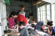 Our Swallowdale Campers #woodworking in the Big House #SWAL