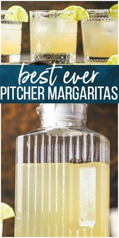 This BEST MARGARITA RECIPE is the only recipe for margaritas you will ever need! This Perfect Margarita Pitcher Recipe is perfect for serving a crowd, made with simple and fresh ingredients, and utterly delicious. There has never been a more perfect marga Party Drinks Alcohol, Tequila Drinks, Alcohol Drink Recipes, Mexican Alcoholic Drinks, Non Alcoholic Margarita, Alcoholic Shots, Alcoholic Desserts, Perfect Margarita, Margarita Cocktail