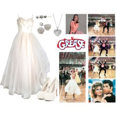 """""""Grease (Sandy)"""" by pinky44 on Polyvore"""