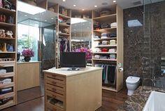 Closet Bathroom Combo Master Bath Attic Bedroom Closets Design