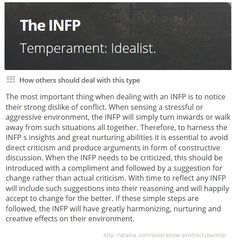 INFP: How others should deal with this type