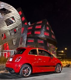 Fiat Abarth 500 parked in my driveway!