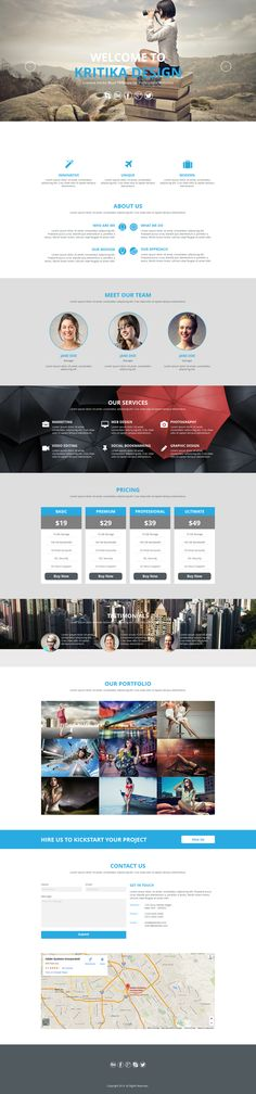 Kritika is a #multipurpose #muse #template. It can be used for any kind of #agency, #corporate and #portfolio #website.