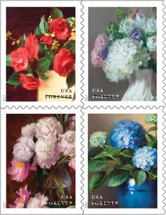 Flowers From The Garden Usps Postagestamps Philately Uspsstamps Stamps Postage
