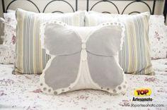 Modelos de almofadas - Almofada de Borboleta - Como ficou