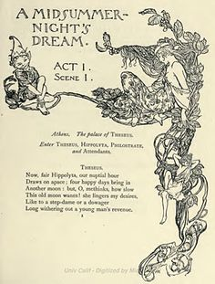 Part I of 'A midsummer night's dream' by William Shakespeare; with illustrations by Arthur Rackham. Published 1908 by Doubleday, Page & Co Midsummer Night's Dream Quotes, Shakespeare Midsummer Night's Dream, Midsummer Nights Dream, Midsummer Night's Dream Fairies, Arthur Rackham, Heath Robinson, Dream Party, Dream Tattoos, William Shakespeare