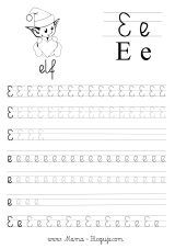 nauka pisania literek - szablon literka E Tracing Worksheets, Preschool Worksheets, Tracing Letters, Kids Writing, Working With Children, Hand Lettering, Alphabet, Homeschool, Education