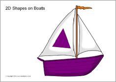 2D shapes on boats (SB10178) - SparkleBox