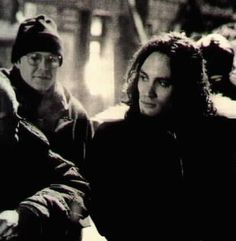 Brandon Lee on the set The Crow. While I like this pin, I feel that there is much more to Brandon than The Crow.