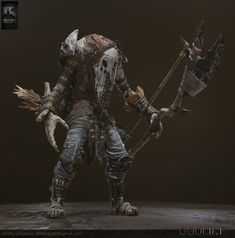 one of the characters, made for 'The Godlike' MOBA. Fantasy Concept Art, Dark Fantasy, All Mythical Creatures, Character Concept, Character Design, Eldritch Horror, Fantasy Races, Leather Armor, Steampunk Costume