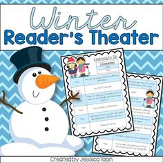 Winter Readers Theater for reading, fluency, comprehension, and expression Drama Activities, Seasons Activities, Team Building Activities, Literacy Activities, Winter Activities, Winter Fun, Winter Theme, Winter Craft, Winter Sports