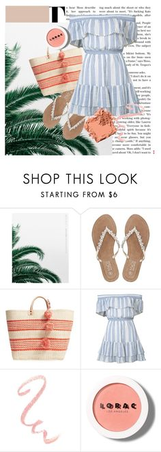 """Fresh Beach Day"" by jazzyem ❤ liked on Polyvore featuring M&Co, Mar y Sol, LoveShackFancy, LORAC and Bobbi Brown Cosmetics"