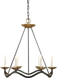 The Choros Aged Iron Chandelier by Visual Comfort will bring elegance and refinement to your rustic or traditional decor. The Choros Aged Iron Chandelier by Visual Comfort features an aged iron with wax finish and six candelabra fixtures that will provide your space with ample light. This beautiful chandelier is the perfect addition to your entry way or dining room. Luxe Home carries a full line of Visual Comfort products to accommodate your unique taste and exquisite style!