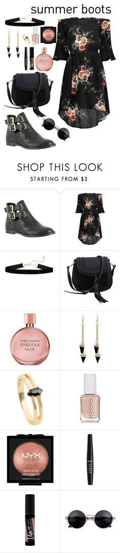"""""""dark but romantic..."""" by lexisamskywalker on Polyvore featuring Bella Vita, MKF Collection, Estée Lauder, Essie, NYX and Charlotte Russe"""