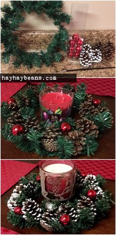 [DIY - Christmas centerpiece for only $2!]