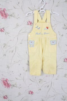 vintage babyoveralls gingham bears