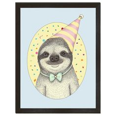 Sloth Poster, Funny Art, Sloth Art, Animal Print, Kids Room Makeover, Childs Bedroom Decor, Gift for Kid, Funny Sloth Gift, 8x10, 18x24 - 8x10