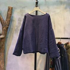 Simple Design Round Neck Quilted  Top Loose Linen Blouse #linen #blouse #quilted #womanfashion #amazing #autumn