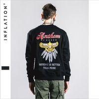 Men Autumn Embroidery O-Neck Casual Fashion Hoodie Male Streetwear Black Brand Clothing Men Hoody Sweatshirts A2649