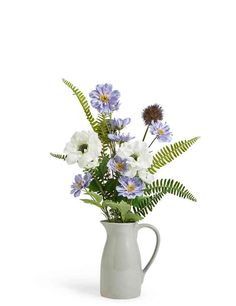 Thistle & Anemone Arrangement in Jug.