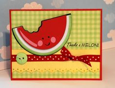 """stampin up watermelon card 