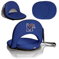 Picnic Time Oniva Seat - Navy (U of Memphis Tigers) Digital Print When you need a recreational reclining seat that's lightweight and portable, the Oniva Seat is for you. It has an adjustable shoulder