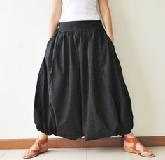 All Around The World Part II...Black Cotton Harem Pants 2