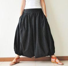Auf der ganzen Welt Teil II... Schwarze Baumwolle Harems Hose Baggy Pants 2 Größen erhältlich