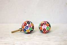 colorful knob // drawer cabinet pull // nursery by umbrellafant, $4.75