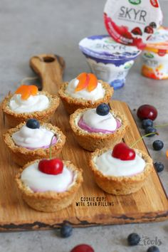 Cookie Cups with Skyr | Bake to the roots
