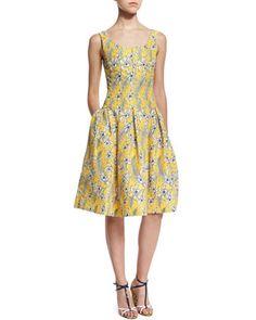 Sleeveless Scoop-Neck Dress, Marigold by Oscar de la Renta at Neiman Marcus.