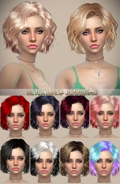Jenni Sims: Newsea`s Foom Summer and  Butterflysims 142 Hairstyles retextured  - Sims 4 Hairs - http://sims4hairs.com/jenni-sims-newseas-foom-summer-and-butterflysims-142-hairstyles-retextured/