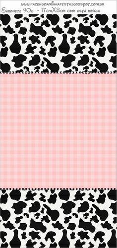 Fiesta Vaquera Femenina: Etiquetas para Candy Bar para Imprimir Gratis. Candy Bar Labels, Candy Bar Wrappers, Cow Print, Animal Print Rug, Sheriff Callie's Wild West, Miniature Cows, Kawaii Background, Oh My Fiesta, Cowgirl Party