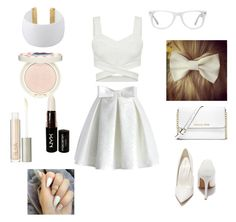 """eligant"" by mariellajoab ❤ liked on Polyvore featuring Chicwish, Shoe Republic LA, MICHAEL Michael Kors, Muse, Gogo Philip, Paul & Joe, Ilia and NYX"