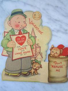 Wimpy from Popeye cartoons retro valentine My Funny Valentine, Valentine Images, Valentines Greetings, Vintage Valentine Cards, Vintage Holiday, Valentine Day Cards, Holiday Cards, Valentine Stuff, Holiday Wishes