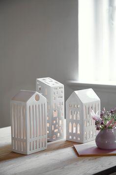 Kahler Scandinavian Decor - Mini Houses - Scandinavian Candle Holder Houses