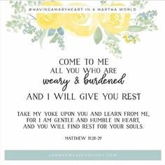 God invites us to bring our worries and cares to Him!