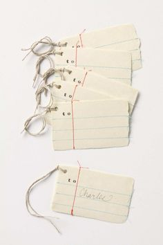 Anthropologie stitched gift tags... must make!