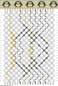 20 strings, 28 rows, 3 colors, bracelet