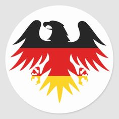 Shop German Eagle Crest Classic Round Sticker created by Personalize it with photos & text or purchase as is! Canadian Flag Tattoo, German Symbols, Germany Tattoo, Eagle Wallpaper, Eagle Logo, Smart Art, Stencil Art, Coat Of Arms, Round Stickers