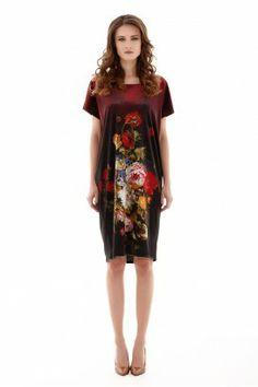 FLORAL VELVET OBLONG DRESS