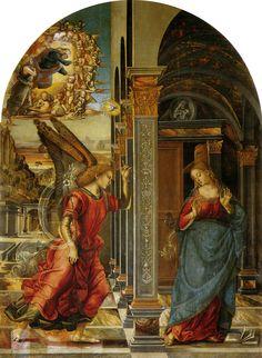 Luca Signorelli - Annunciazione - 1491 -  tempera su tavola ,282x205 cm, Pinacoteca di Volterra, Toscana