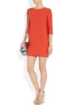 cut out crepe twill dress from Sandro