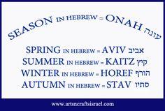 The seasons in Hebrew